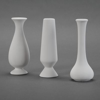 Assorted Bud Vases (set of 3)