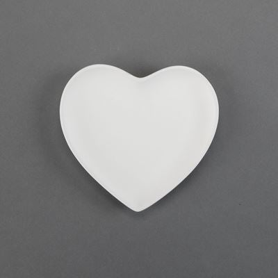Small Heart Plate  12cs