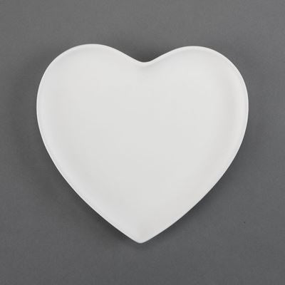 Large Heart Plate  12cs