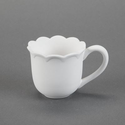 Scalloped Mug  12cs