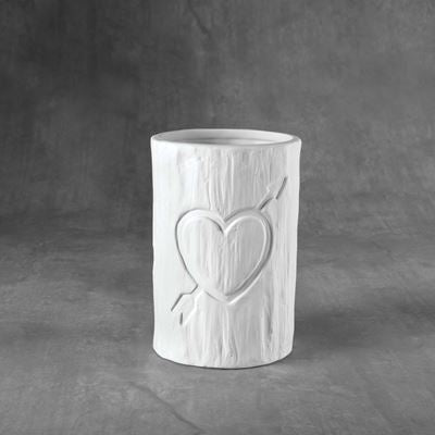 Tree Carved heart Vessel  6cs