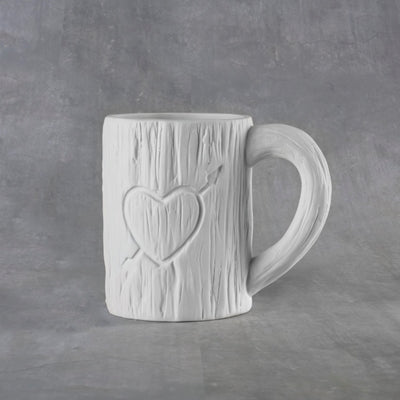Tree Carved Heart Mug 12 oz.  6cs