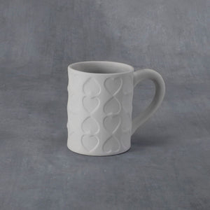 Imprinted Hearts Mug 16 oz.