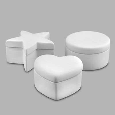 Round, Star, Heart Box (set of 3)  12cs