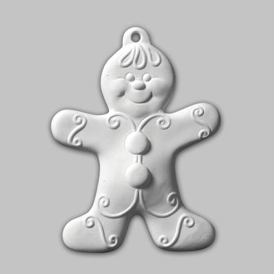 Gingerbread Boy Ornament   12cs