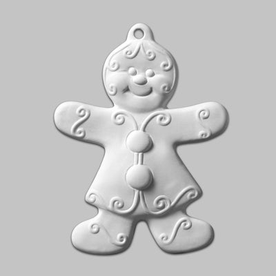 Gingerbread Girl Ornament  12cs