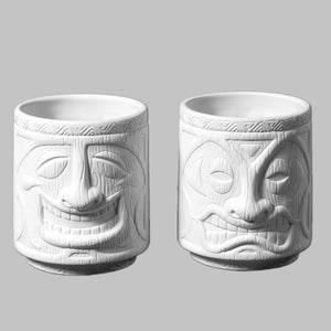 Tiki Cups (set of 2)   4cs