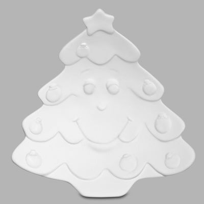 Merry Christmas Tree Dish  6cs