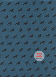 Unicorn Race from Lawn Quilt by Cotton + Steel in Denim Yardage
