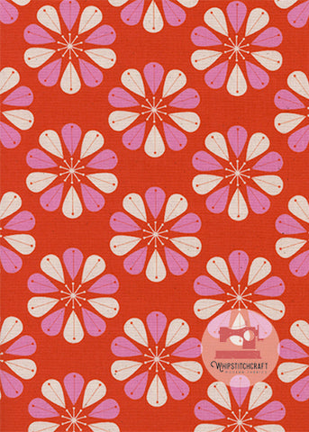 Shower Cap from Beauty Shop by Melody Miller for Cotton + Steel in Red Yardage
