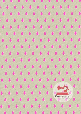 Drops from Beauty Shop by Melody Miller for Cotton + Steel in Pink Yardage