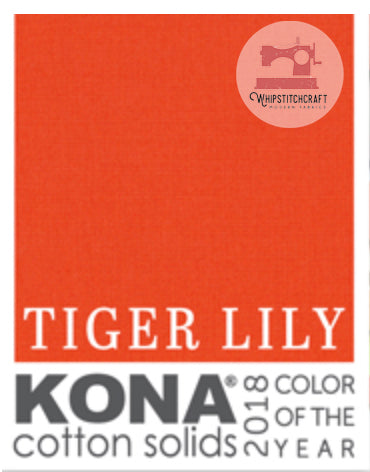 2018 Color of the Year Tiger Lily by Kona Cotton Solids