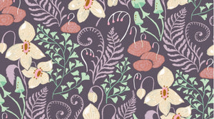 Woodland Floral by Rae Ritchie for Dear Stella in Violet Yardage