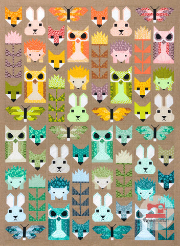Fancy Forest Redux by Elizabeth Hartman Quilt Kit