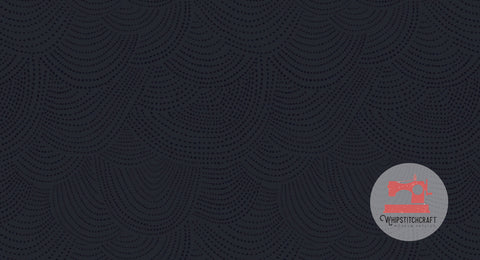 Scallop Dot from Chroma Basics by Rae Ritchie for Dear Stella in Navy