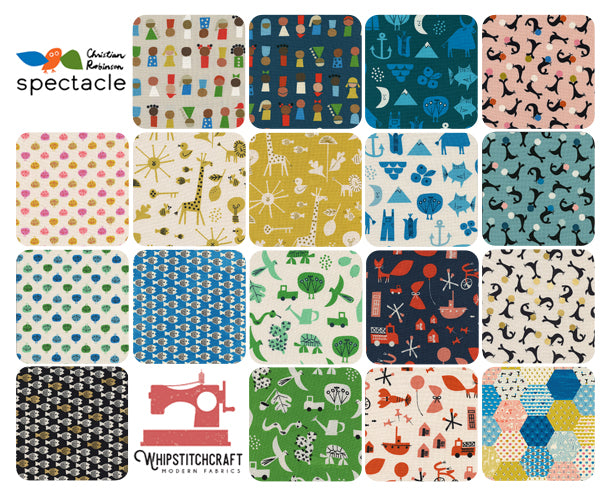 Spectacle by Christian Robinson for Cotton + Steel Friends Fat Quarter Bundle