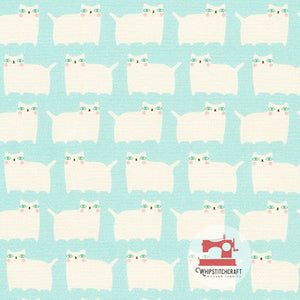 Aqua from Suzy's Minis 2 by Suzy Ultman for Robert Kaufman Fat Cats