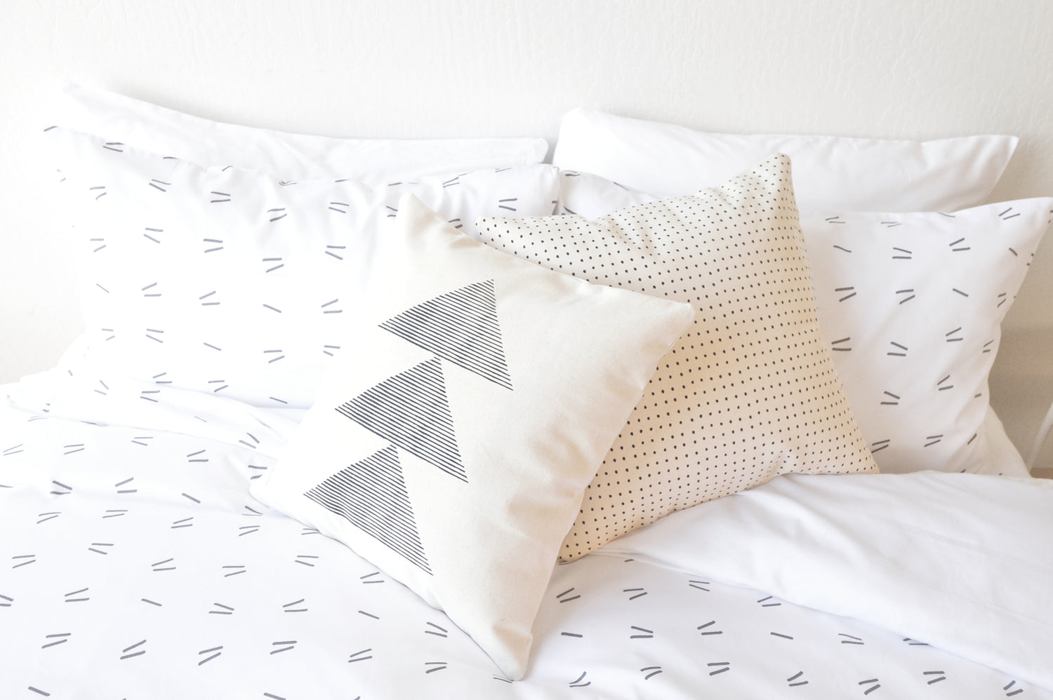 drift pillow cases in bedroom