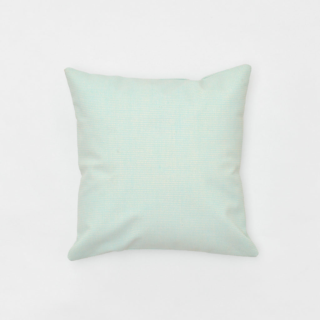 sea bedding throw pillow - organic cotton canvas