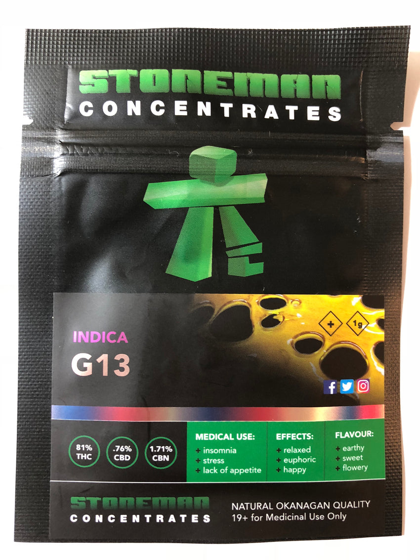 Stoneman Concentrates G13 | Shatter Doctor