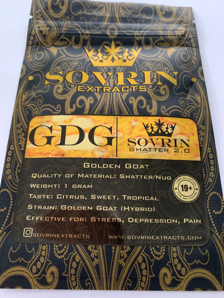 Golden Goat Sovrin Extracts | Shatter Doctor