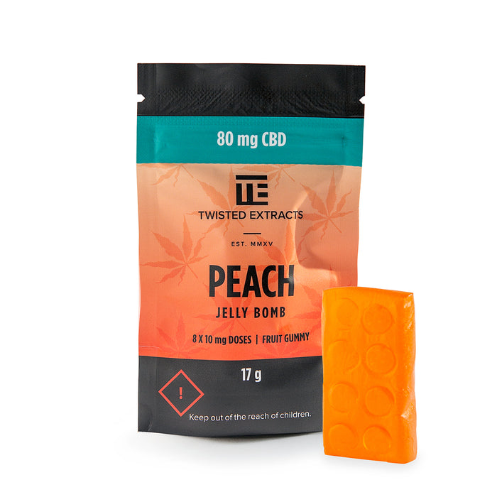 Peach CBD Jelly Bomb