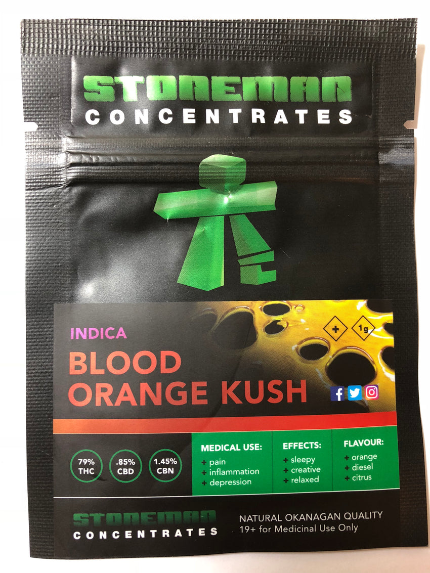 Stoneman Concentrates Blood Orange Kush | Shatter Doctor