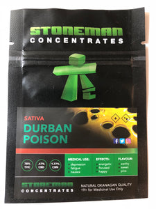 Stoneman Concentrates Durban Poison | Shatter Doctor