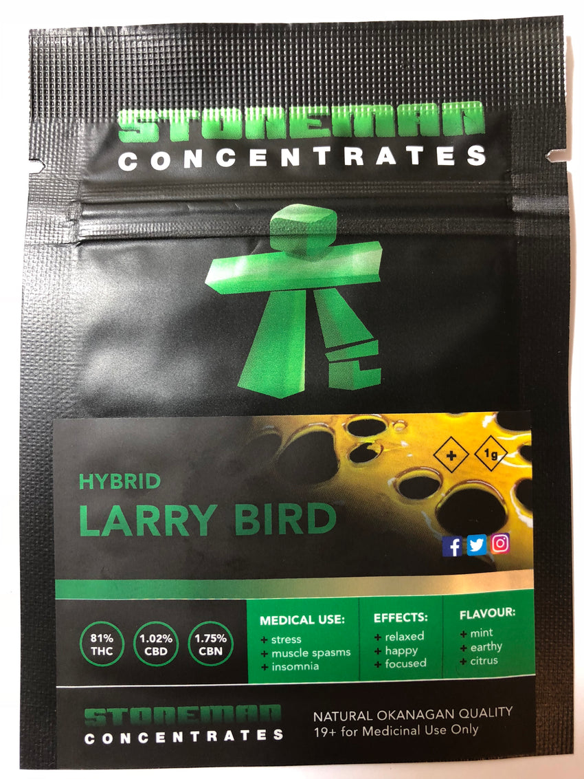 Stoneman Concentrates Larry Bird | Shatter Doctor