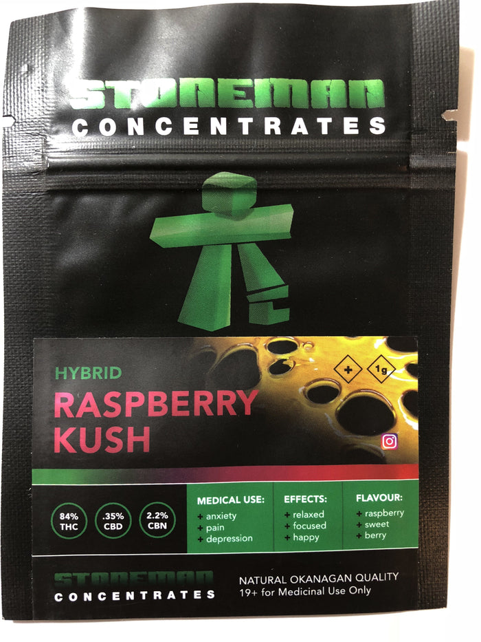 Stoneman Concentrates Raspberry Kush | Shatter Doctor