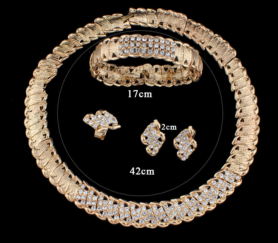 African Wedding Jewelry Dubai Gold color Jewelry Sets - FKF Fashion
