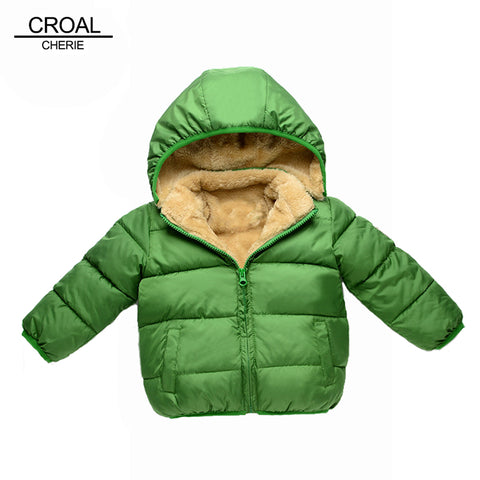 80-110cm Thick Velvet Kids Girls Boys Winter Coat Warm Jacket - FKF Fashion