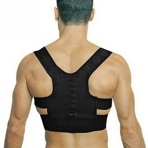 FREE With AntiTheft Bag Adjustable Back Therapy Shoulder Magnetic Posture Corrector Unisex