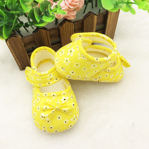 Printed Bowknot Soft Anti-Slip Crib Shoes 0-18 Months