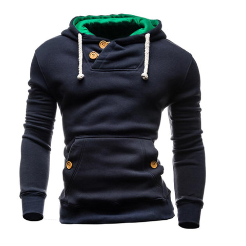 False mens hoodies pullover sweatshirt hombre clothing O-neck Solid moleton masculino