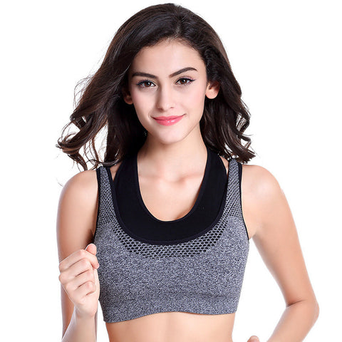 Fitness Tank Tops Push-up Wireless Sports Bras