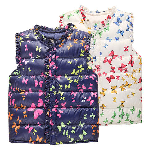 6-Style Autumn&Winter Sweet Floral Children's Girls Jackets Outerwear Clothing - FKF Fashion
