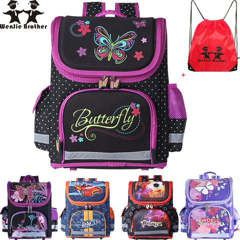 Butterfly Backpack EVA Folded Orthopedic School Bags For Boys & Girls - FKF Fashion