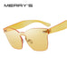 Fashion Women Integrated Eyewear Candy Cat Eye Sunglasses S'8087