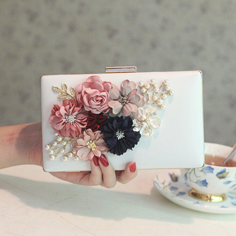 Flowers pattern wedding clutch
