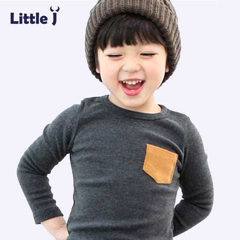 T Shirt Candy Color Long Sleeve Baby Girls Boys Cotton Tops