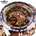 Sport Design Bezel Golden Men'ss Watch