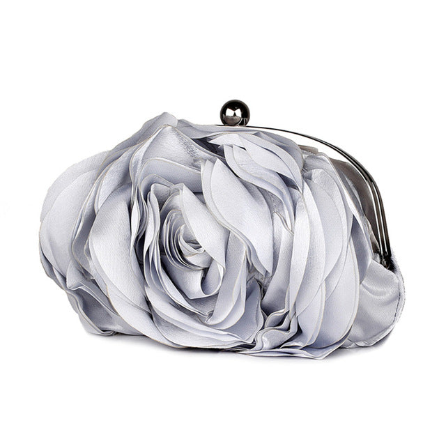 Floral Rose Flower Clutch Dinner Small Purse