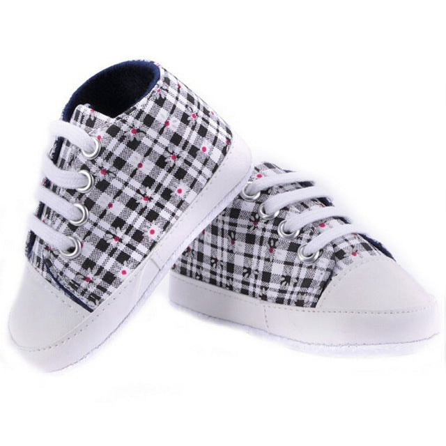 Baby Boys Girls Soft Sole Crib Casual Shoes Sneaker 0-18M