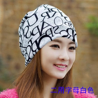 Cap Knitted Scarf & Winter Hats for Women Letter Beanies  Hip-hot Skullies girls - FKF Fashion