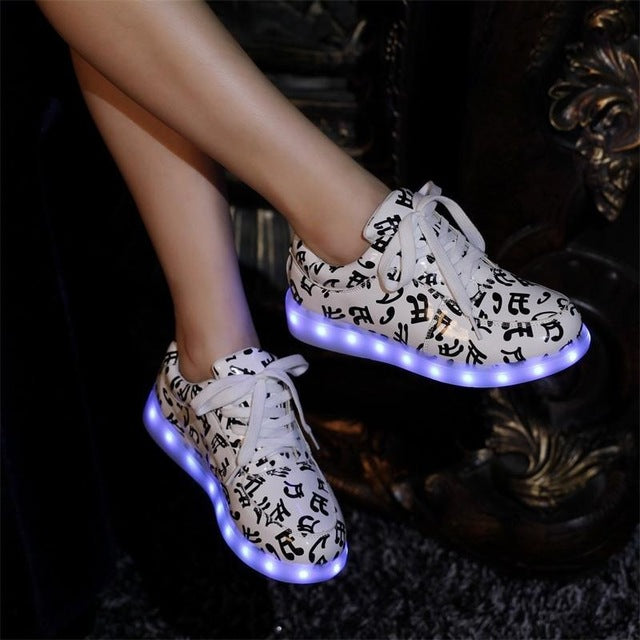 Women colorful led shoes 2017