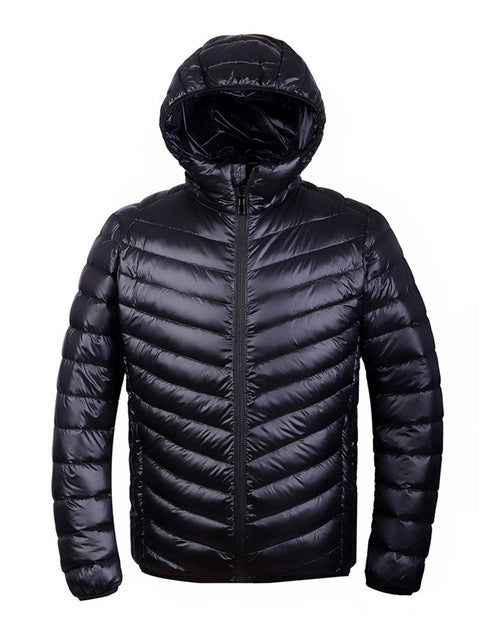 Winter men Ultralight Jacket 95% Duck Down Jacket Outdoors Collar Winter Parka Coat