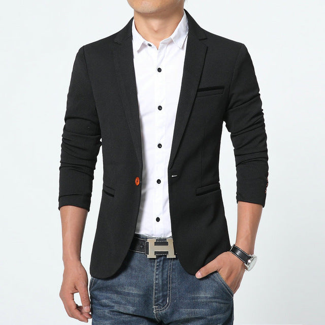 4 Colors High Quality Mens blazers Jacket plus size also available - FKF Fashion