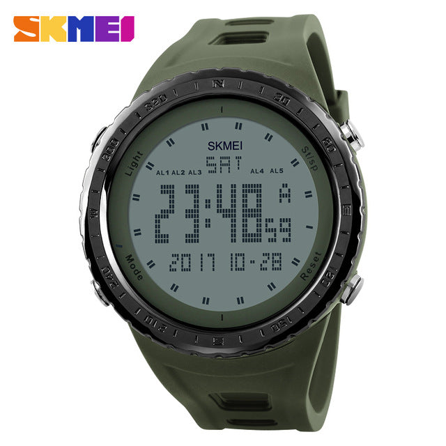 LED Digital 50M Waterproof Swim Dress Sports Outdoor Wrist Watch