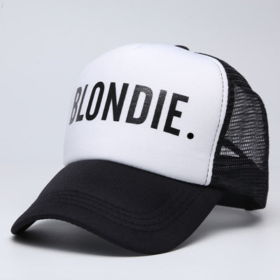 BLONDIE BROWNIE Baseball Trucker Mesh cap Women High Quality